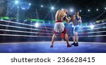 two professionl boxers are... | Shutterstock . vector #236628415