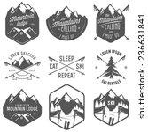 Set Of Vintage Skiing Labels...