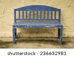 Old Bench With Paint Flaking  ...