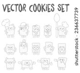 cartoon cookie set with... | Shutterstock .eps vector #236637739