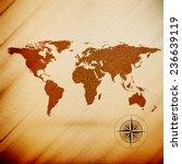 world map  wooden design... | Shutterstock . vector #236639119