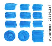 collection of acrylic brushes... | Shutterstock .eps vector #236641867