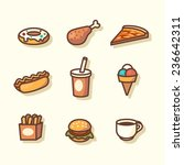 fast food icons. vector... | Shutterstock .eps vector #236642311