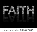faith from bible word  graphic  ... | Shutterstock .eps vector #236642485