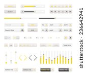 yellow ui elements vector....