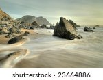 slow shutter speed shore coast... | Shutterstock . vector #23664886