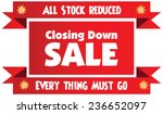 closing down sale label or... | Shutterstock .eps vector #236652097