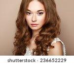 portrait of young beautiful... | Shutterstock . vector #236652229