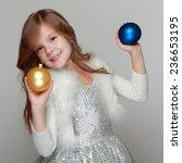 portrait of happy girl looking... | Shutterstock . vector #236653195