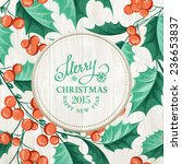 Holiday Invitation Card With...
