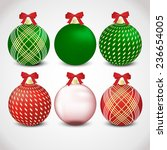 christmas ornament set  red ... | Shutterstock .eps vector #236654005