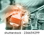 researcher dropping the reagent ... | Shutterstock . vector #236654299