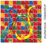 Snakes And Ladders. A Cartoon...