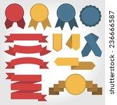 ribbon set  flat design | Shutterstock .eps vector #236666587