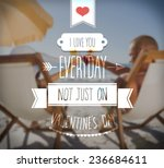 digitally generated i love you... | Shutterstock .eps vector #236684611