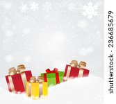 christmas background with a... | Shutterstock .eps vector #236685679