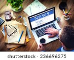 digital online global news... | Shutterstock . vector #236696275