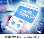 digital online credit score... | Shutterstock . vector #236696311