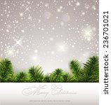 christmas greeting card | Shutterstock .eps vector #236701021
