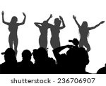 silhouettes of young dancing... | Shutterstock .eps vector #236706907