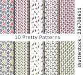 set of ten pretty patterns | Shutterstock .eps vector #236708611