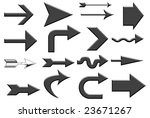 various aqua black arrows over... | Shutterstock . vector #23671267