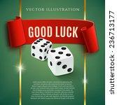 good luck  casino background... | Shutterstock .eps vector #236713177