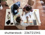 working group. three young... | Shutterstock . vector #236721541