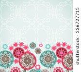 dandelions. taraxacum. card ... | Shutterstock .eps vector #236727715