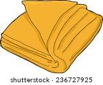 Single Orange Folded Towel...