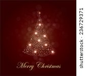 shiny christmas tree in brown... | Shutterstock .eps vector #236729371