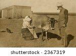 Vintage Photo Of A Farm Couple...