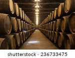 Barrels In The Wine Cellar ...