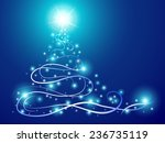 abstract christmas tree with... | Shutterstock .eps vector #236735119