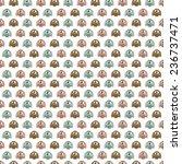 Owl Print Background Pattern I...