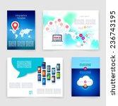 vector leaflet design templates ...