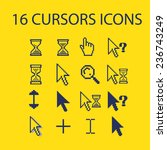 cursors  interface icons  signs ... | Shutterstock .eps vector #236743249