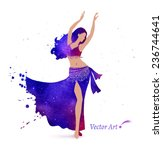 Belly Dancer With Space Pattern ...
