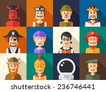 set of vector isolated flat... | Shutterstock .eps vector #236746441