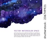 watercolor night sky background ... | Shutterstock .eps vector #236749921