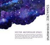 watercolor night sky background ... | Shutterstock .eps vector #236749921