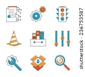 abstract icons of web settings... | Shutterstock .eps vector #236753587