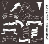 vintage chalkboard ribbon... | Shutterstock .eps vector #236757145