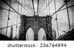 Brooklyn Bridge  Dramatic Blac...