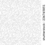 Wallpaper in the style of Baroque. A seamless vector background. Floral pattern.