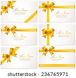 vector set of gift cards with... | Shutterstock .eps vector #236765971