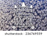 merry christmas and new year... | Shutterstock . vector #236769559