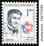 czechoslovakia   circa 1989 ... | Shutterstock . vector #236773585