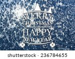 merry christmas and new year... | Shutterstock . vector #236784655