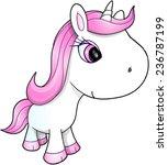 cute happy unicorn vector... | Shutterstock .eps vector #236787199